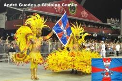 André Guedes e GIslaine Camilo