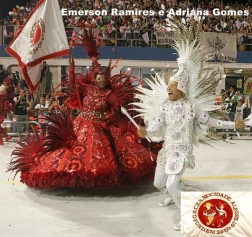 Emerson Ramires e Adriana Gomes