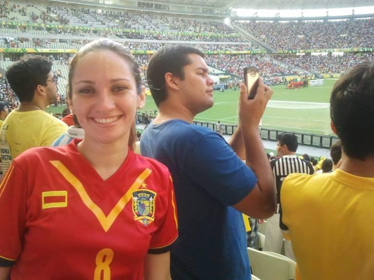 La mejor aficcionada de la Roja en Brasil