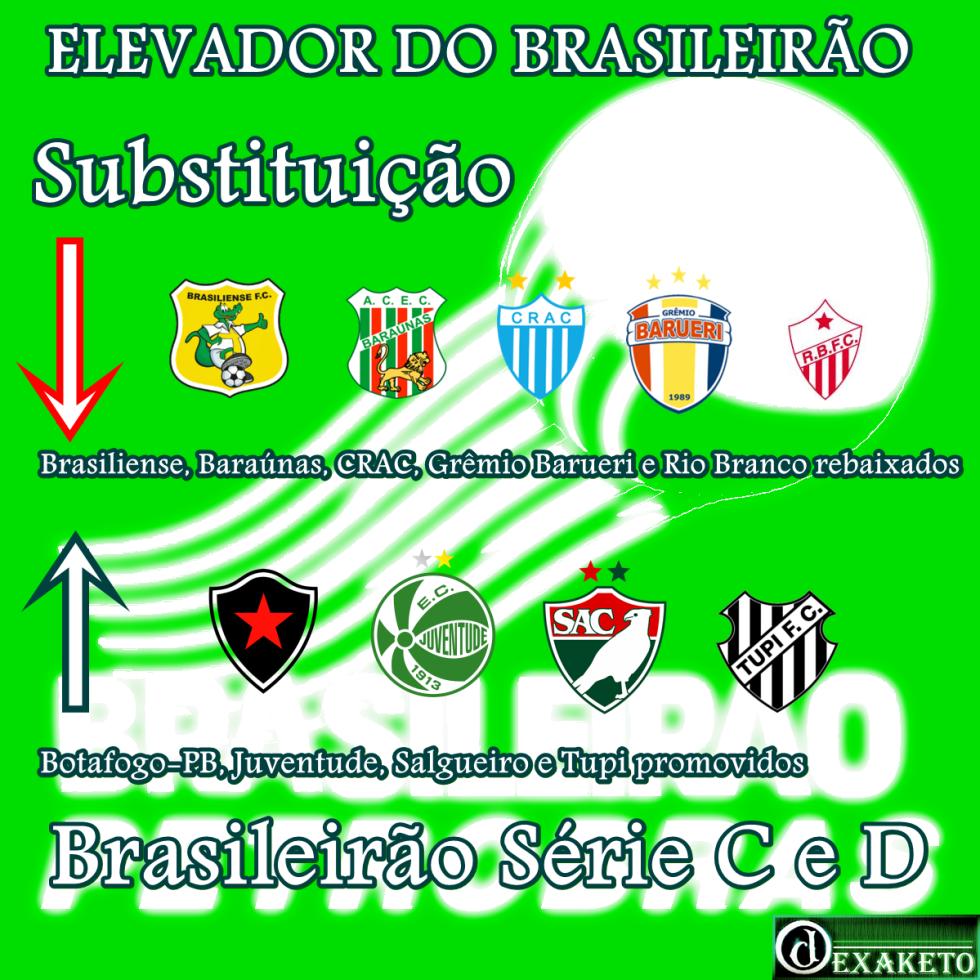 Elevador do Brasileirão Série C - Série D 2013