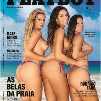 Veridiana Freitas, Fernanda Lacerda e Aricia Silva - Belas da Praia - Playboy - Janeiro 2014