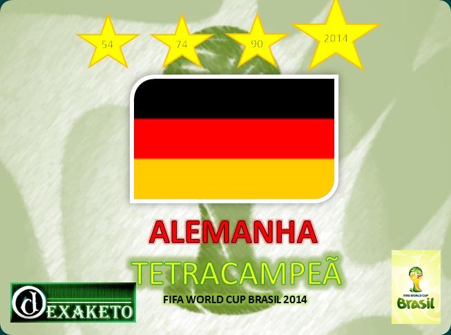 Alemanha Tetracampeã - Copa do Mundo 2014