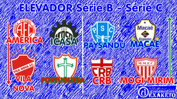 Elevador do Brasileirão Série B e Série C 2014-2015