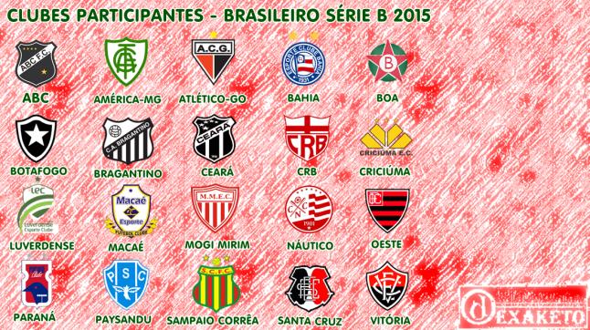 Clubes Participantes Serie B 2015