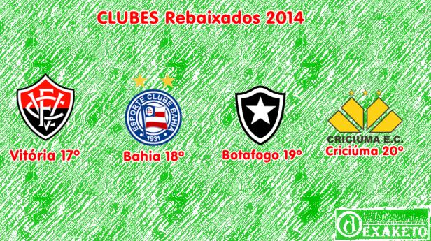 Clubes Rebaixados 2014