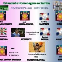 Estandarte Homenagem ao Samba - Grupo Especial A - Carnaval Vitoria 2015