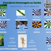 Estandarte Homenagem ao Samba - Grupo Especial - Carnaval Rio de Janeiro 2015