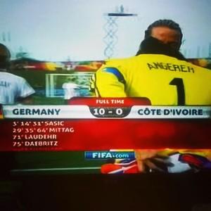 Alemanha 10x0 Costa do Marfim