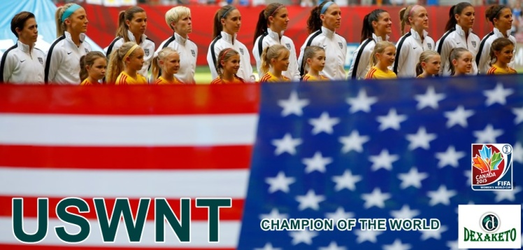 USWNT Champion - FIFA WOMENS WORLD CUP CANADA 2015 - Dexaketo