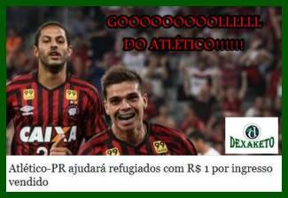 Gol do Atlético-PR - Dexaketo