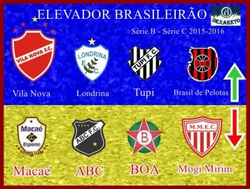 Elevador Brasileirão Série B - Série C 2015 - Dexaketo
