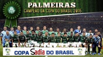 Poster Oficial Palmeiras Campeão Copa do Brasil 2015