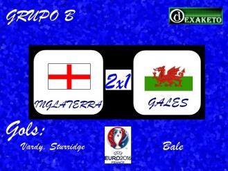 Inglaterra X País de Gales - UEFA EURO 2016 - Dexaketo