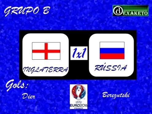 Inglaterra X Russia - UEFA EURO 2016 - Dexaketo