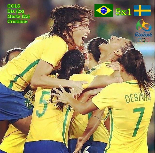 Brasil goleia Suécia - Futebol Feminino - Rio 2016 - Dexaketo
