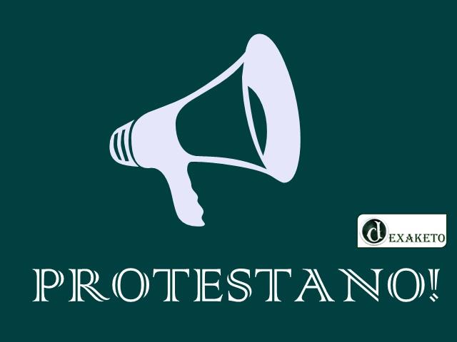 Protestano