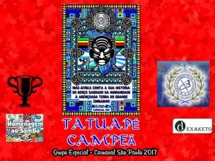 Tatuapé Campeã - Carnaval SP 2017