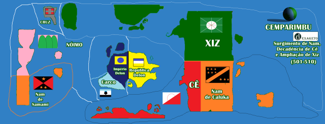 Ampliação de Xiz, Guerra e Decadência de Cê e o surgimento de Nam - Cemparimbu - Dexaketo