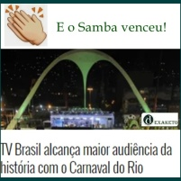 Samba como Recorde de Audiencia