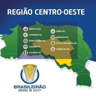 Times - Região Centro-Oeste - Brasileirão Série D 2017