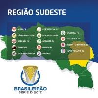 Times - Região Sudeste - Brasileirão Série D 2017
