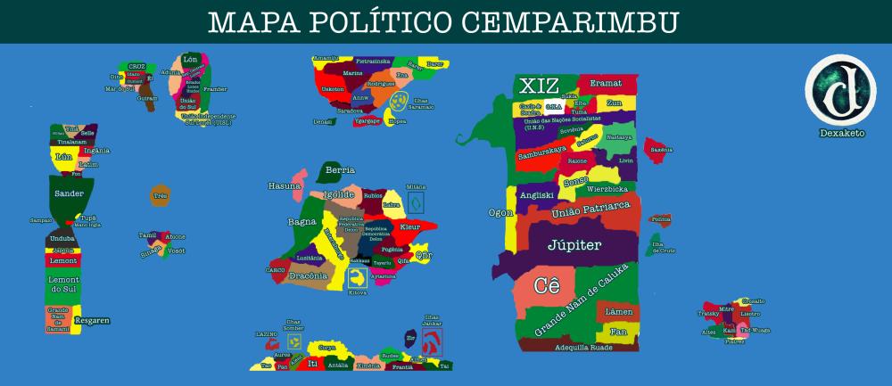 Cemparimbu Mapa Político Atual - Dexaketo