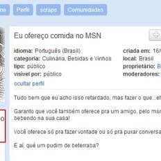 Eu Ofereço Comida no MSN