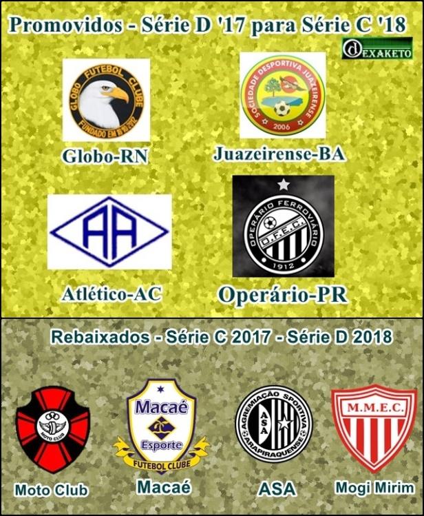 Elevador Brasileirão Série C - Série D - 2017-2018 - Dexaketo