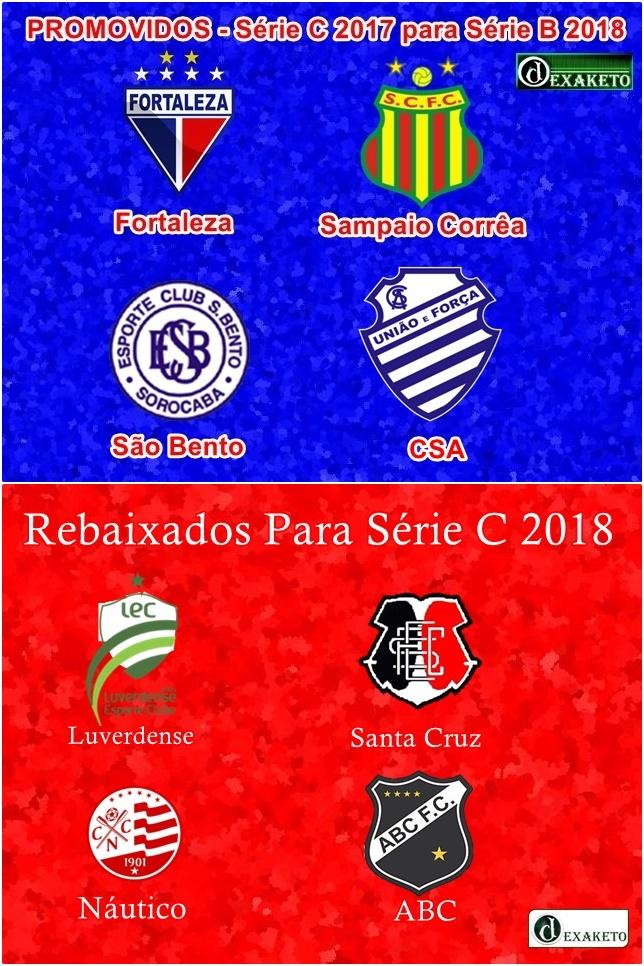 Elevador Brasileirão Série B - Série C - 2017-2018 - Dexaketo