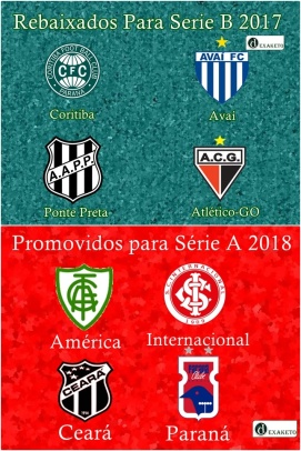 Elevador Brasileirão Série A - Série B - 2017-2018 - Dexaketo