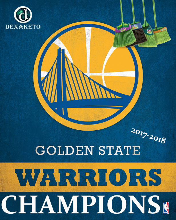 Golden States Warriors - Champions NBA 2017-2018 - Dexaketo