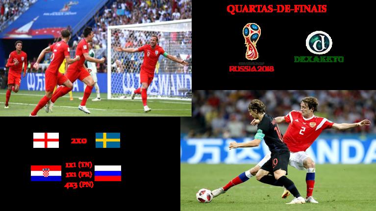 Inglaterra e Croácia nas Semifinais - FIFA WORLD CUP RUSSIA 2018 - Dexaketo