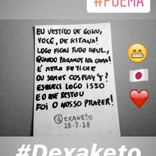 Poema do Cosplay Safado - Dexaketo
