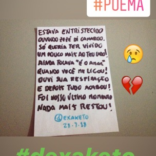 Poema - O Fim do É o Amor - Dexaketo