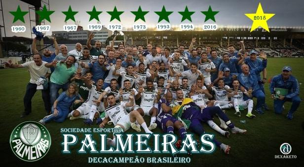 Palmeiras Decacampeão Brasileiro 2018 - Dexaketo