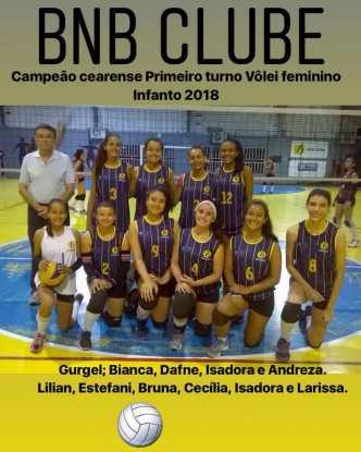 BNB - Campeão Cearense - Volei Feminino - Infanto 1º Turno 2018 - Dexaketo
