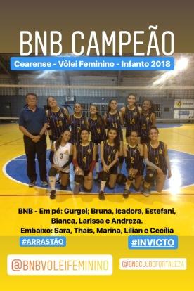 BNB - Campeão Cearense - Volei Feminino Infanto 2018 - Dexaketo