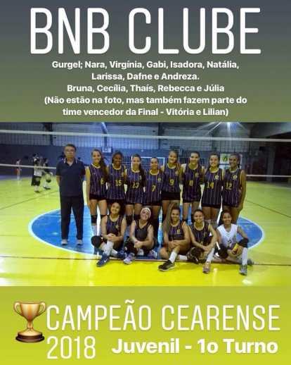 BNB - Campeão Cearense - Volei Feminino - Juvenil - 1º Turno 2018 - Dexaketo