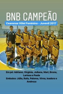 BNB - Campeão Cearense - Volei Feminino Juvenil 2017 - Dexaketo