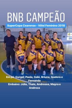 BNB - Campeão SuperCopa Cearense - Volei Feminino 2018 - Dexaketo