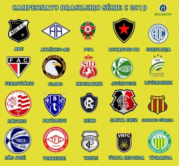Clubes - Campeonato Brasileiro Série C 2019 - Dexaketo