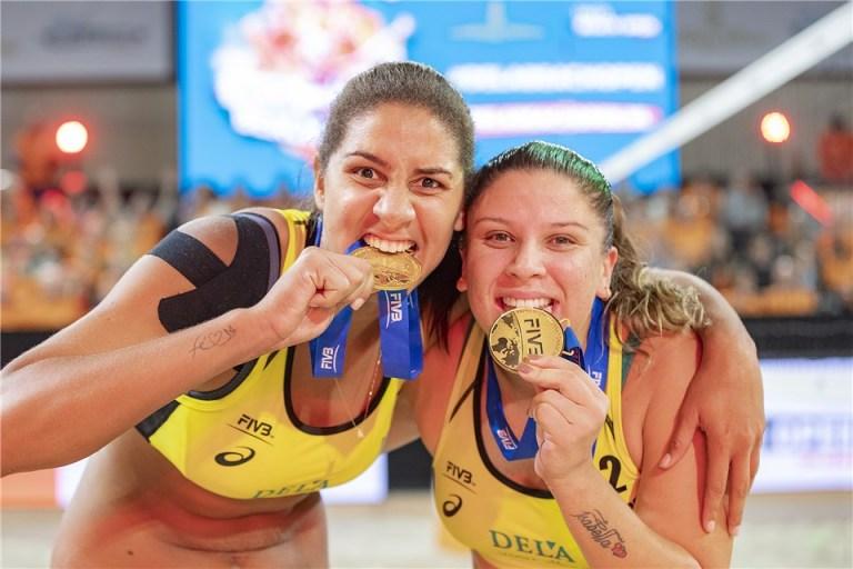 ana patricia e rebeca são ouro em etapa do mundial de volei de praia
