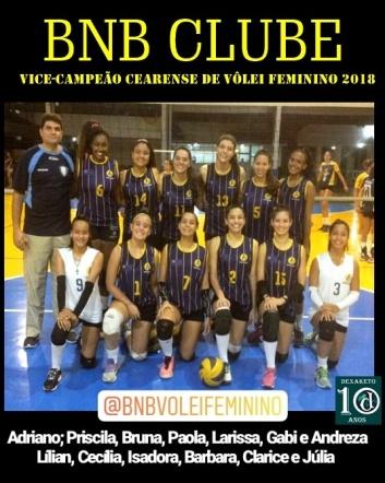 BNB - Vice - Campeonato Cearense de Vôlei Feminino 2018 - Dexaketo