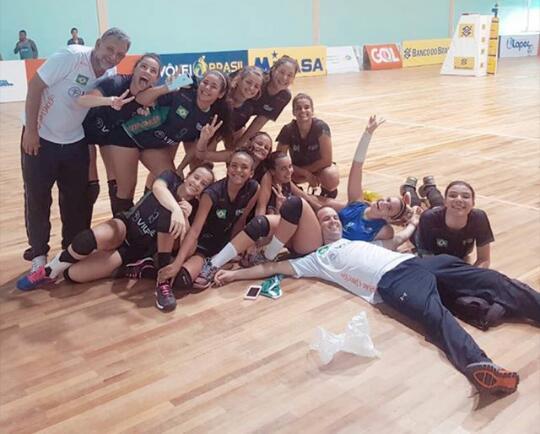 Seleção Cearense de Vôlei Feminino se Mantém na Divisão Especial do CBS Sub-18